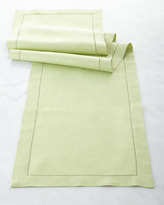 "Sferra Hemstitched Table Runner, 15"" x 108"""