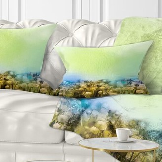 East Urban Home Floral Flowers Garden in Soft Color Lumbar Pillow