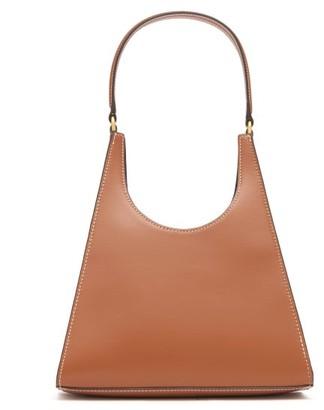 STAUD Rey Small Crocodile-embossed Leather Bag - Womens - Tan