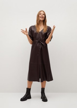 MANGO Puffed sleeves dress black - 2 - Women