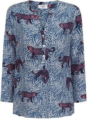 Mercy Delta - Stanford Silk Shirt Jaguar - XS