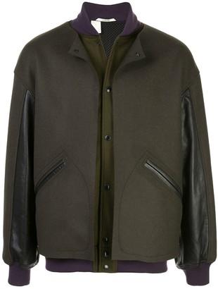 Snap-Button Bomber Jacket