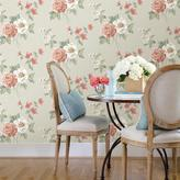 Chesapeake 8 in. x 10 in. Keighley Coral Floral Wallpaper Sample