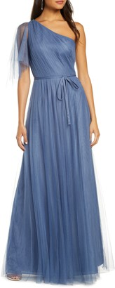 Marchesa One-Shoulder A-Line Bridesmaid Gown