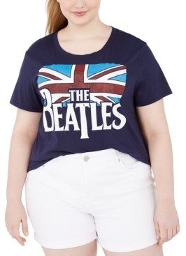 Love Tribe Trendy Plus Size The Beatles Graphic T-Shirt
