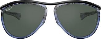 Ray-Ban Olympian aviator-frame sunglasses