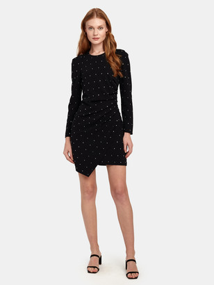 A.L.C. Lana Crystal Embellished Crepe Mini Dress