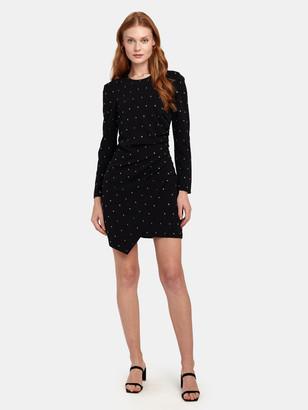 A.L.C. Lana Crystal Embellished Crepe Mini Dress