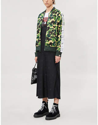 BAPE Camouflage high-neck raglan-sleeved woven jacket