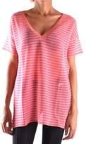 Fabrizio Del Carlo Women's Pink Cotton T-shirt.
