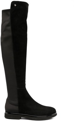 AGL Panelled Knee-High Boots