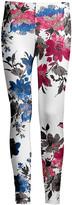 Lily Women's Leggings BLU - Blue & Pink Floral Leggings - Women & Plus
