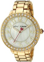 Betsey Johnson Women's Quartz Metal and Alloy Casual Watch, Color:Gold-Toned (Model: BJ00397-26)