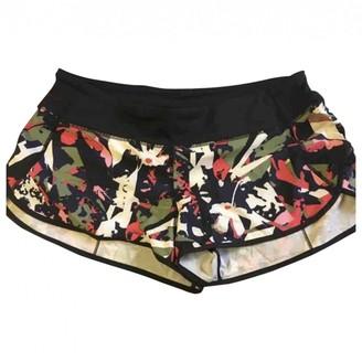 Lululemon Multicolour Lycra Shorts for Women