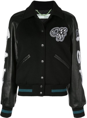 Off-White Varsity Inspired Bomber Jacket