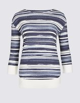 Classic Striped 3/4 Sleeve T-Shirt