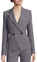 Escada Diamond Pique Double-Breasted Jacket