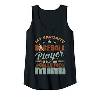 Womens My Favorite Baseball Player Call Me Mimi-Christmas Gift Tank Top