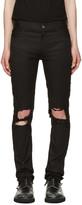 Christian Dada Black Signature Super Skinny Knee Trousers