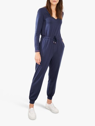 White Stuff V-Neck Jumpsuit, Dark Blue