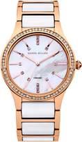 Karen Millen Ladies rose gold tone bracelet watch