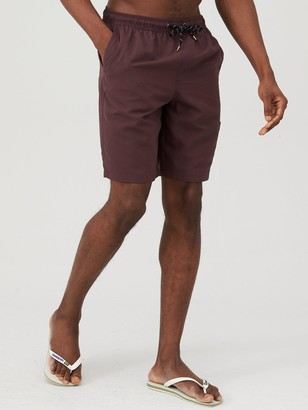 Basic Longer Length Swimshorts - Fudge