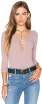 Free People Lace Up Top