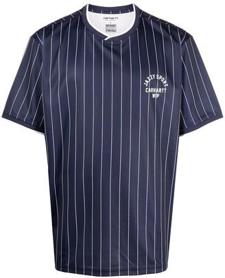 Carhartt Work In Progress striped short-sleeved T-shirt