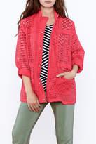 Erin London Coral Mesh Jacket