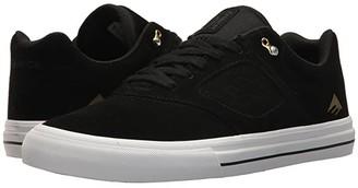 Emerica Reynolds 3 G6 Vulc (Black/White/Gold) Men's Skate Shoes