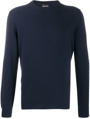 Giorgio Armani fine knit crew neck sweater