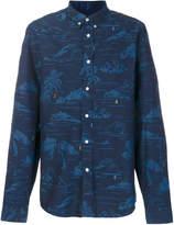Kenzo mountain print button-down shirt