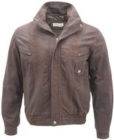 Infinity Men's Classic Buffalo Suede Leather Harrington Tailored Fit Jacket L