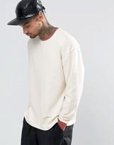 Asos Oversized Sweatshirt With Contrast Ribs