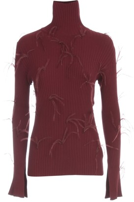 Marques Almeida Roll-Neck Feather Detailed Jumper