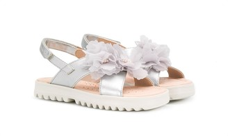 Geox Kids Floral-Appliqued Sandals