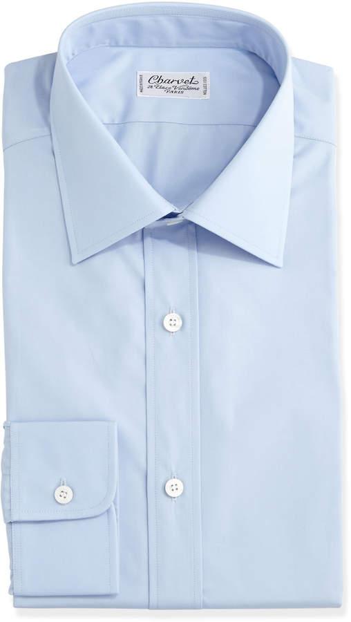 Charvet Solid Poplin Dress Shirt