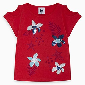 Tuc Tuc RED Flowers Jersey T-Shirt for Girl Lost Ocean