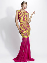 Baccio Couture - Liz - 3190 Mesh Painted Long Dress