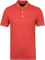 Lyle & Scott Flame Red Marl Pique Polo Shirt