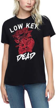 True Religion Women's Tee Shirts BLACK - Black Floral 'Low Key Dead' - Women