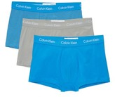 Calvin Klein Underwear 3 Pack Cotton Stretch Low Rise Trunks