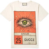 Gucci Slim-Fit Printed Cotton-Jersey T-Shirt