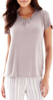 JCPenney Ambrielle Lace-Accented Short-Sleeve Sleep Tee