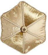 "Dian Austin Couture Home Geneva Pieced Tambourine Pillow, 18""Dia."
