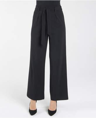 Nanette Lepore nanette Elastic Stretch Regular Wide Leg Loose Pant with Self Sash Belt