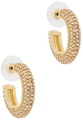 BaubleBar Marciella Crystal-embellished Hoop Earrings