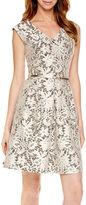 Tiana B Tiana B.Cap-Sleeve Lace Fit-and-Flare Dress - Tall