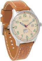 Dakota Men's Quartz Stainless Steel and Leather Watch, Color:Brown (Model: 26162)