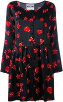 Moschino heart, star and lip print dress